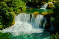 Siklawa w Krka parku narodowym zdjęcie royalty free