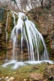 Siklawa w Krymskim lesie fotografia royalty free