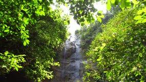 Siklawa w lasowym Ciamis Zachodni Jawa zdjęcia stock