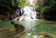 Siklawa w lesie tropikalnym (Huay Mae Kamin siklawa, Kanchanabur Zdjęcia Stock
