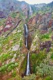 Siklawa w północnej części madery wyspa, Portugalia Zdjęcie Stock