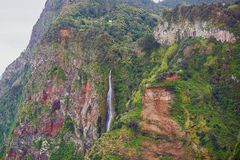 Siklawa w północnej części madery wyspa, Portugalia Obraz Royalty Free