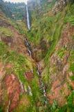 Siklawa w północnej części madery wyspa, Portugalia Fotografia Stock