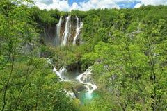 Siklawa w Plitvice jezior parku Fotografia Stock