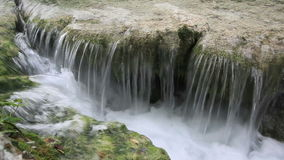 Siklawa w Plitvice jezior parku narodowym zdjęcie wideo