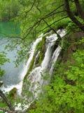 Siklawa w Plitvice Park Narodowy obraz royalty free