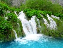 Siklawa w Plitvice Park Narodowy fotografia royalty free