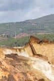 Siklawa w Riotinto górniczym terenie, Andalusia, Hiszpania Zdjęcia Royalty Free