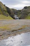 Siklawa w Vik w Iceland Fotografia Royalty Free