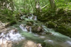 Siklawa w Zadiel dolinie Zdjęcie Royalty Free