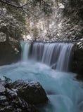 Siklawa w zimie zdjęcie royalty free