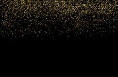 Siklawy błyskotliwości złotych bąbli szampańskie cząsteczki grają główna rolę czarnego tła nowego roku wakacje szczęśliwego pojęc ilustracja wektor