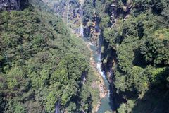 Siklawy dolina Zdjęcia Stock