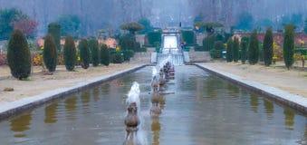 Siklawy fontanna w miłość ogródzie przy Kashmir fotografia stock