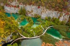 Siklawy przy Plitvicka Jezera, Plitvice - Fotografia Royalty Free