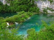 Siklawy i jeziora w Plitvice Park Narodowy zdjęcie royalty free