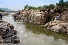 Siklawy i rzeka Fotografia Royalty Free