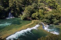 Siklawy Krka park narodowy Obraz Royalty Free