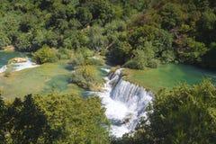 Siklawy Krka park narodowy Fotografia Stock
