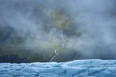 Siklawy, mgła i lodowiec, Obrazy Stock