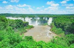 Siklawy od Cataratas robią Iguacu Zdjęcie Stock