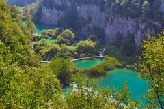 Siklawy Plitvice park narodowy w Chorwacja Zdjęcia Royalty Free