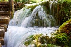 Siklawy Plitvice park narodowy w Chorwacja obraz royalty free