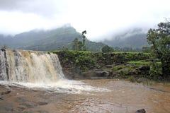 Siklawy podczas monsunu obraz stock