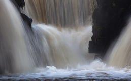 Siklawy przy Penllergare rezerwatem przyrody Zdjęcia Royalty Free
