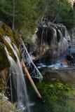 Siklawy przy Wiszącym jeziorem - Glenwood wiosny, Kolorado obraz stock