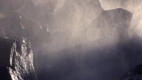Siklawy rzeka w górach zbiory wideo