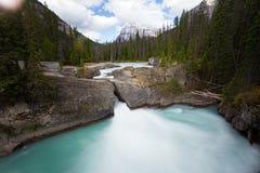 Siklawy tęsk ujawnienie, Skaliste góry w Kanada Obrazy Royalty Free