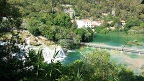 Siklawy w Krka parku narodowym, Chorwacja Fotografia Royalty Free