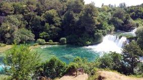 Siklawy w Krka parku narodowym, Chorwacja Zdjęcie Royalty Free