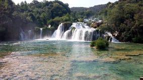 Siklawy w Krka parku narodowym, Chorwacja Zdjęcia Stock