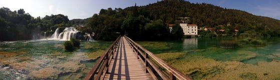 Siklawy w Krka parku narodowym, Chorwacja Obrazy Royalty Free