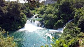 Siklawy w Krka parku narodowym, Chorwacja Obrazy Stock
