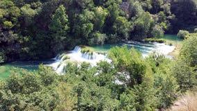 Siklawy w Krka parku narodowym, Chorwacja Fotografia Stock