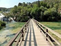 Siklawy w Krka parku narodowym, Chorwacja Zdjęcia Royalty Free