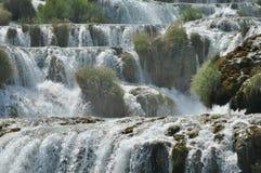 Siklawy w Krka parku narodowym w Chorwacja Siła i malowniczy Obrazy Royalty Free