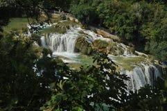 Siklawy w Krka parku narodowym w Chorwacja Siła i malowniczy cud Obraz Royalty Free