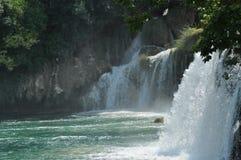 Siklawy w Krka parku narodowym w Chorwacja Siła i malowniczy cud Fotografia Royalty Free