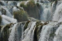 Siklawy w Krka parku narodowym w Chorwacja Siła i obrazki Zdjęcie Royalty Free