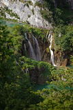 Siklawy w parku narodowym Plitvice w Chorwacja Obraz Stock