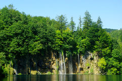 Siklawy w Plitvice Fotografia Royalty Free