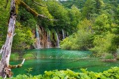 Siklawy w Plitvice jeziorach Chorwacja Zdjęcia Royalty Free