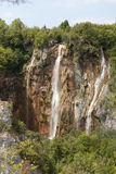 Siklawy w Plitvice parku Fotografia Royalty Free