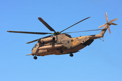 Sikorsky CH-53 helicopter in the air. Stock Photos
