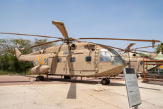 Sikorsky CH-53 transport helicopter. HATZERIM, ISRAEL - APRIL 27, 2015: Israeli Air Force Sikorsky CH-53 transport helicopter on display in the Israeli Air Force Royalty Free Stock Image
