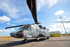 Sikorsky S-92 Legacy of Heroes demo helicopter on display at Singapore Airshow 2012 Royalty Free Stock Photography